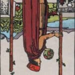 Two of Wands (Reversed): love, money, profession, health, spirituality