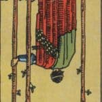Three of Wands (Reversed): love, money, profession, health, spirituality