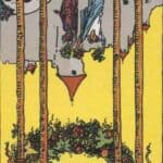 Four of Wands (Reversed): love, Money, profession, health, spirituality