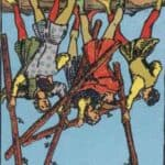 Five of Wands (Reversed): love, money, profession, health, spirituality