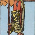 Page of Wands (Reversed): love, money, profession, health, spirituality
